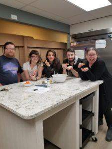 Savings Circles participants enjoy homemade hummous