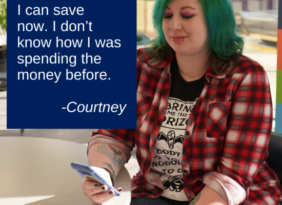 Courtney testimonial Momentum Savings Challenge