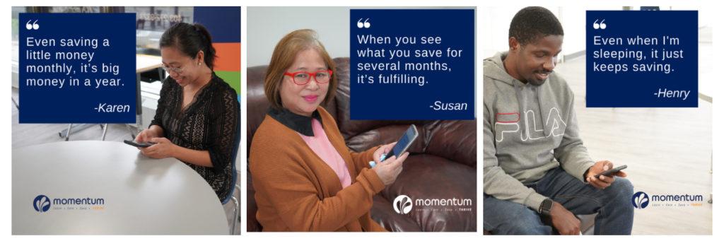 Testimonials Momentum Savings Challenge